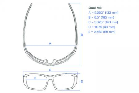 Dual Power Eyewear V8w Lesebrille