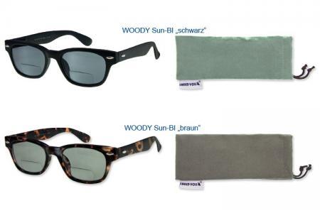 Woody Sun Bifokal-Lesebrille, in 2 Farben im Wayfarer-Style