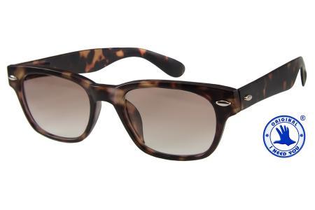 2 Stück Woody Lese-Sonnenbrillen im Wayfarer-Style