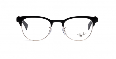 Ray-Ban New Clubmaster Original <br>Retro Lesebrille, Top Black on Matte Silver