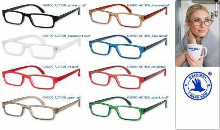 Action Lesebrille, in 8 frischen Farben