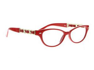 Boudoir Lesebrille Shiny Red