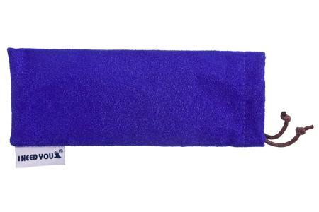 Woody Sonnen-Lesebrille im Wayfarer-Style in Blau