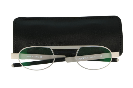 Seeoo Mini Reader Silver / Black Lesebrille