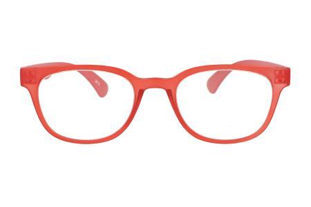 James in Rot, pfiffige Lesebrille im Retro-Style aus Kunststoff