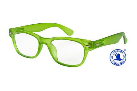 Woody Lesebrille im Wayfarer-Style Grün