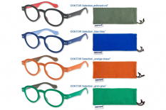 3 Stück Doktor Lesebrille Selection, zweifarbig im intelektuellen Nerd-Style