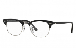 Ray-Ban Clubmaster Original<br>Retro Lesebrille, Shiny Black