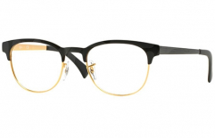 Ray-Ban New Clubmaster Original <br>Retro Lesebrille, Top Black on Matte Gold