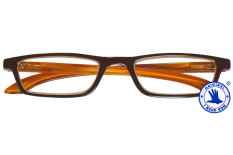 Tiffy Lesebrille in Braun-Orange